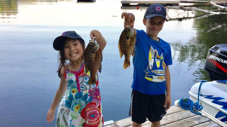 Mike - bluegill with Chase